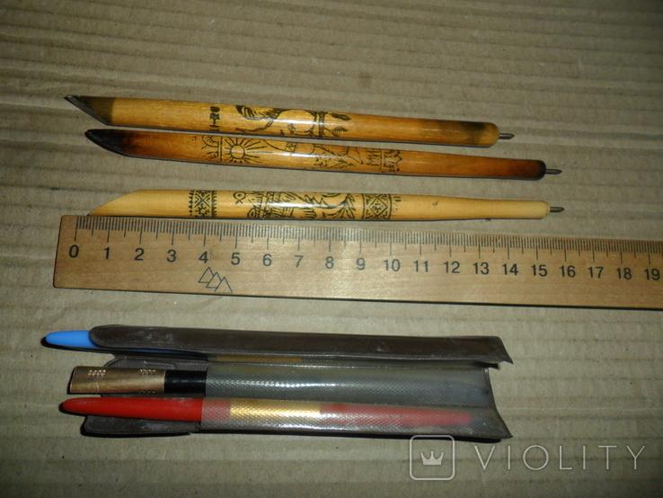 Ручки дерево 3 шт + пластик 3 шт., фото №2