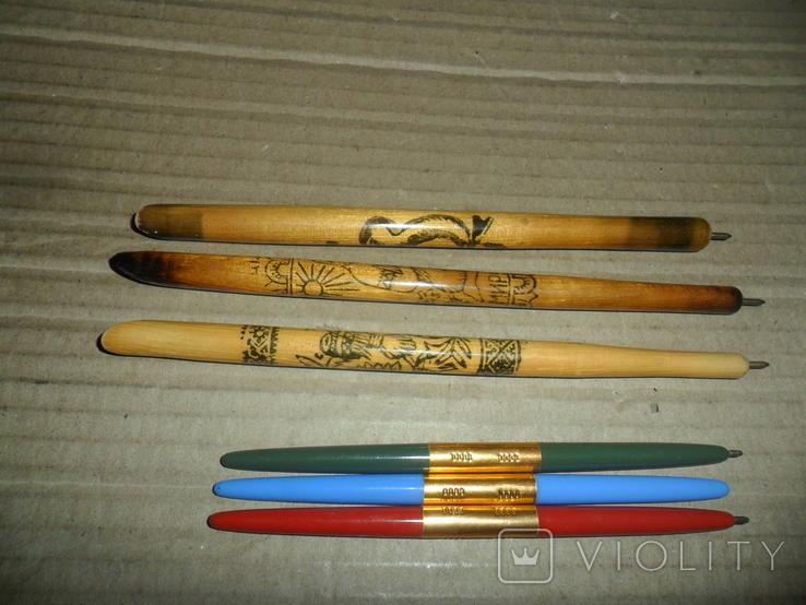 Ручки дерево 3 шт + пластик 3 шт., фото №6