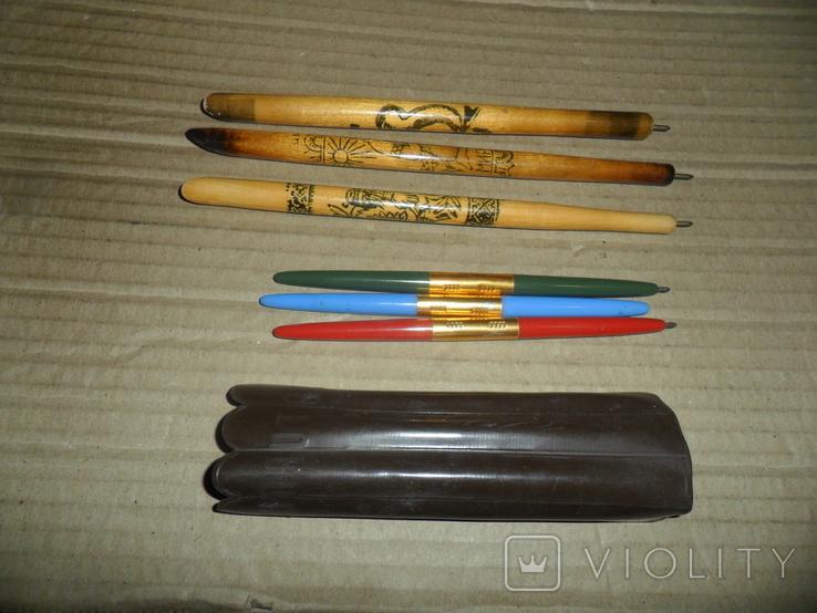 Ручки дерево 3 шт + пластик 3 шт., фото №8