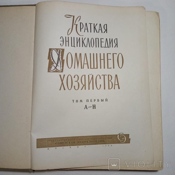 2 ТОМА Краткая энциклопедия домашнего хозяйства, фото №3