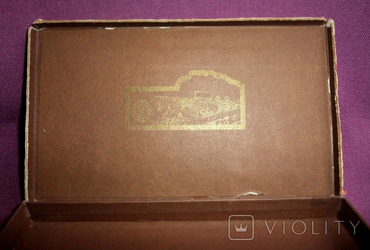 Коробка шоколад НАША МАРКА фабрика Красный Октябрь Москва ГОСТ 1953г., фото №13
