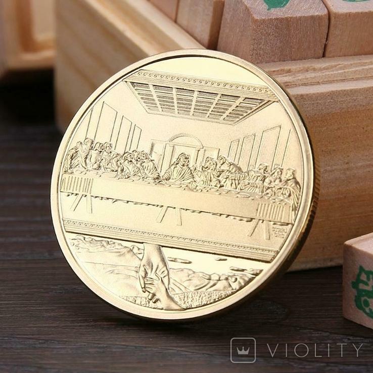 Сувенирная монета Тайная вечеря (копия), фото №2