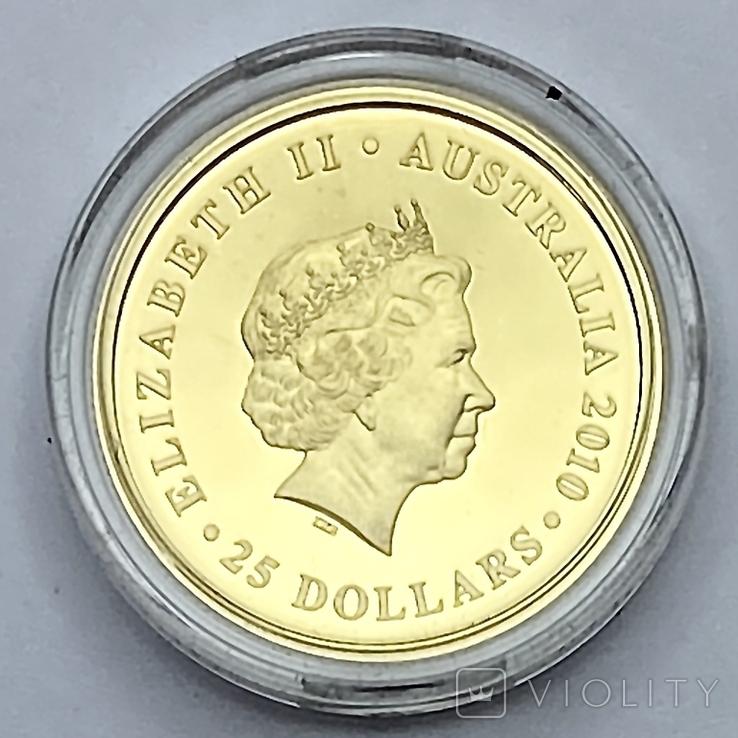 25 долларов - Соверен. 2010. Австралия. Пруф. (золото 917, вес 7,9881 г), фото №4
