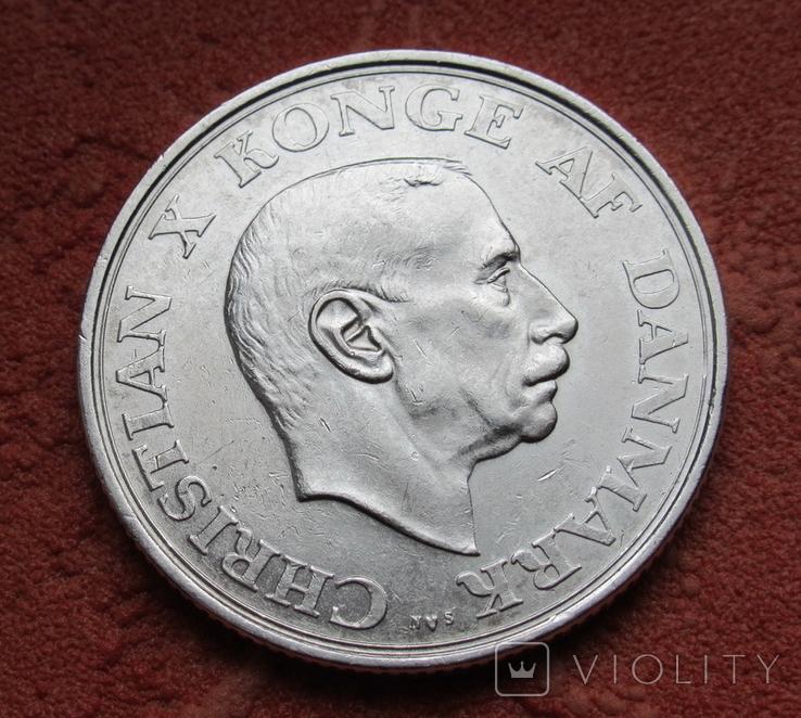 2 кроны 1937 г. Дания, серебро, фото №2
