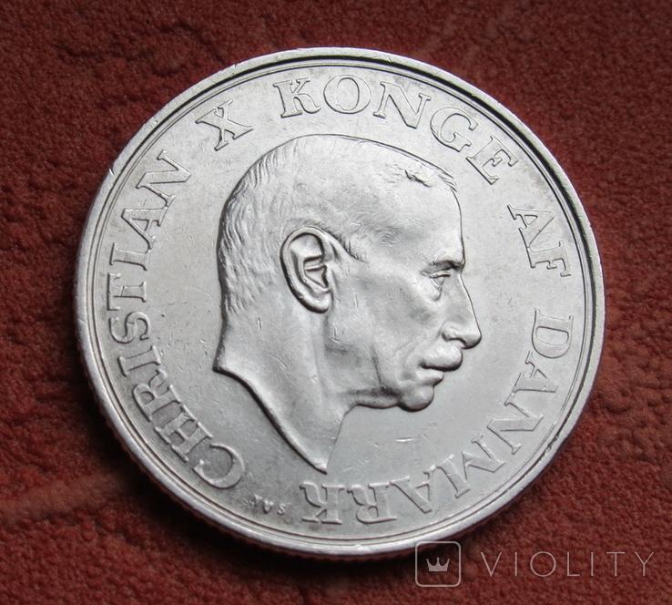 2 кроны 1937 г. Дания, серебро, фото №3