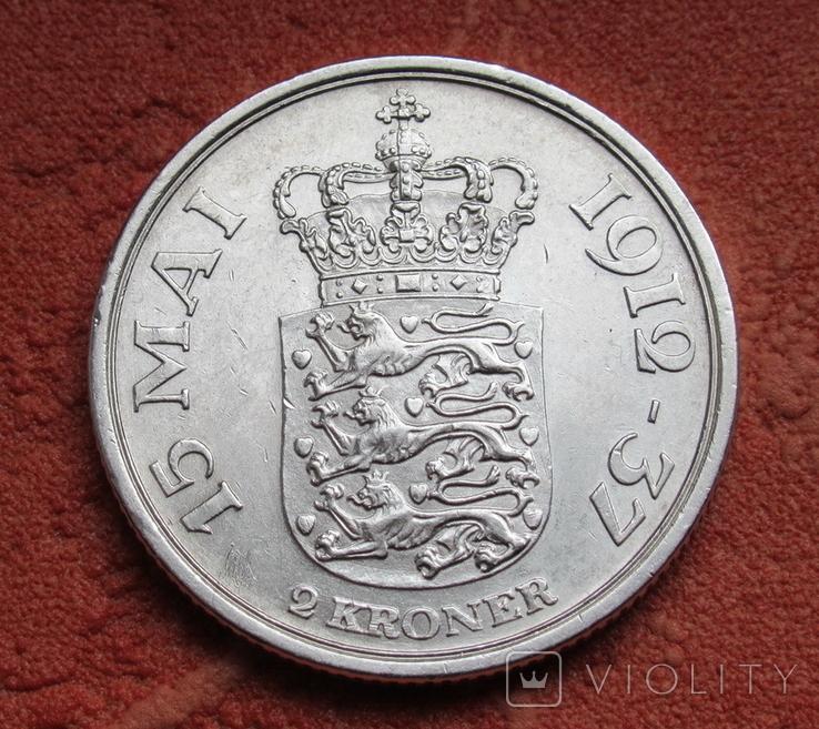 2 кроны 1937 г. Дания, серебро, фото №7