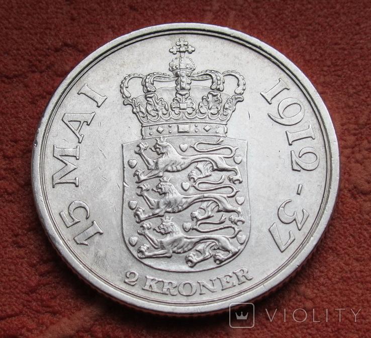 2 кроны 1937 г. Дания, серебро, фото №9