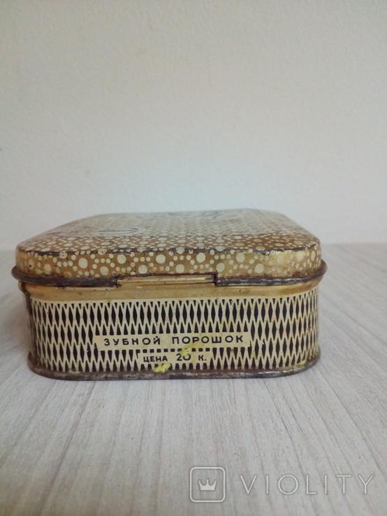 Коробка жестяная Зубной порошок Жемчуг, фото №7