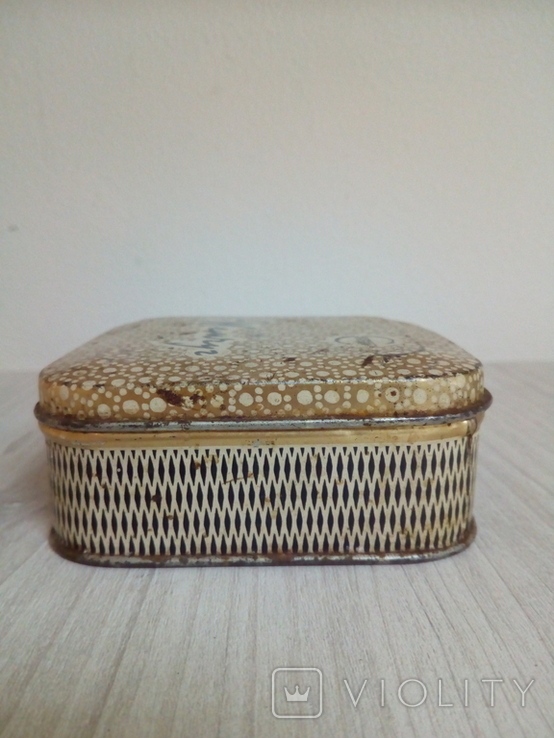 Коробка жестяная Зубной порошок Жемчуг, фото №8