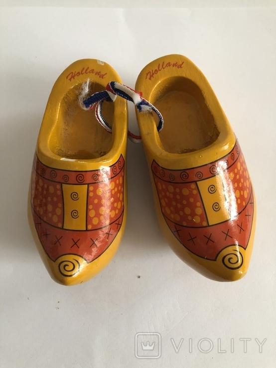 Сабо деревянные Holland сувенир из Готландии, фото №2