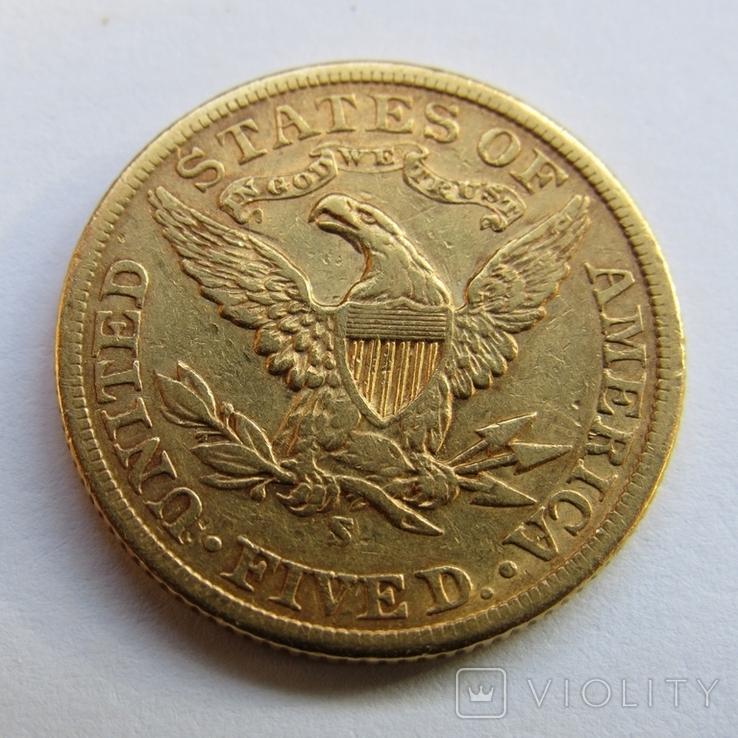 5 долларов 1901 г. США, фото №7