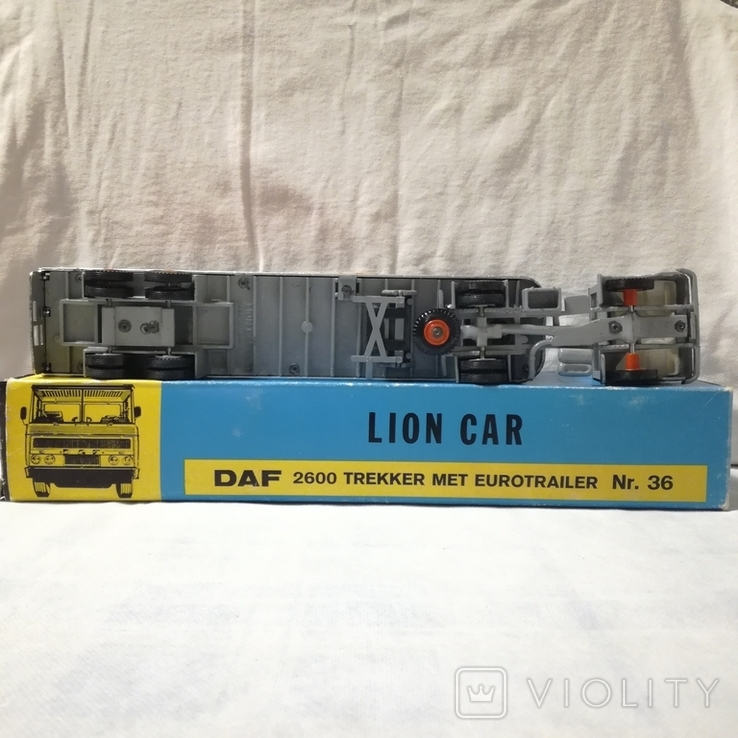 Тягач, грузовик Lion Car 1/50 Scale Nr.36 DAF Trucks 2600 Trekker Eurotrailer, Holland, фото №4