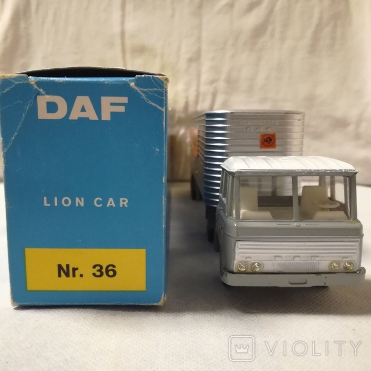 Тягач, грузовик Lion Car 1/50 Scale Nr.36 DAF Trucks 2600 Trekker Eurotrailer, Holland, фото №7