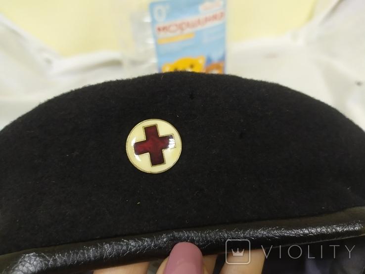 Берет со знаком Красный Крест. Шерсть. 56-57 рр, фото №10