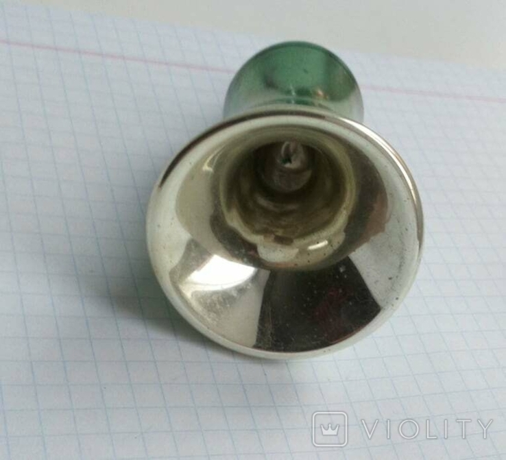 Елочная игрушка Колокольчик зеленый СССР 1959 г., фото №7