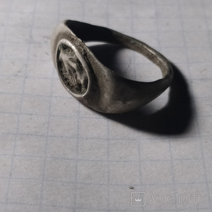 Римский перстень рукопожатие серебро копия, фото №3