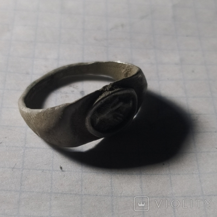 Римский перстень рукопожатие серебро копия, фото №4