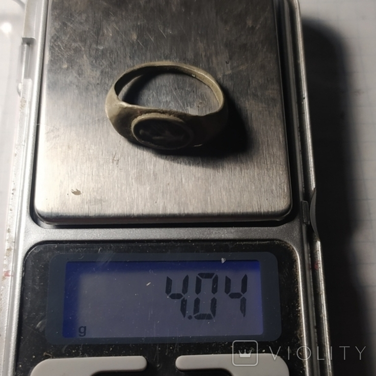Римский перстень рукопожатие серебро копия, фото №7