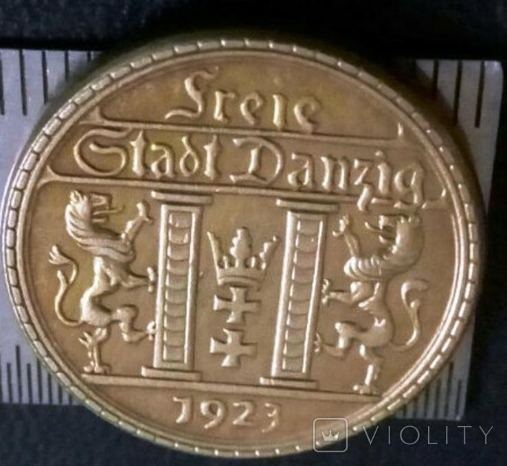 25 гульденів золотом1923рокуВільне місто Данціг /копія/, фото №3