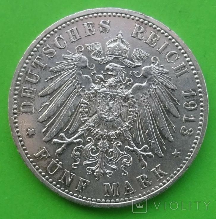 5 марок, Пруссия, 1913 год., фото №4