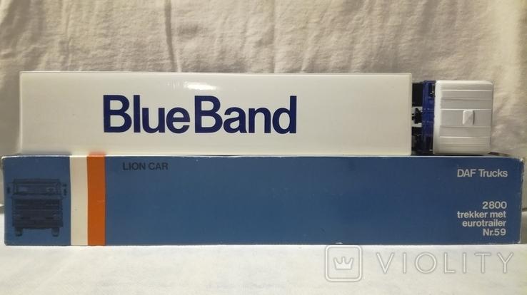 Тягач, Грузовик Lion Car 1/50 Scale No.36 - DAF Truck Trailer - Blue Band, Holland, фото №4