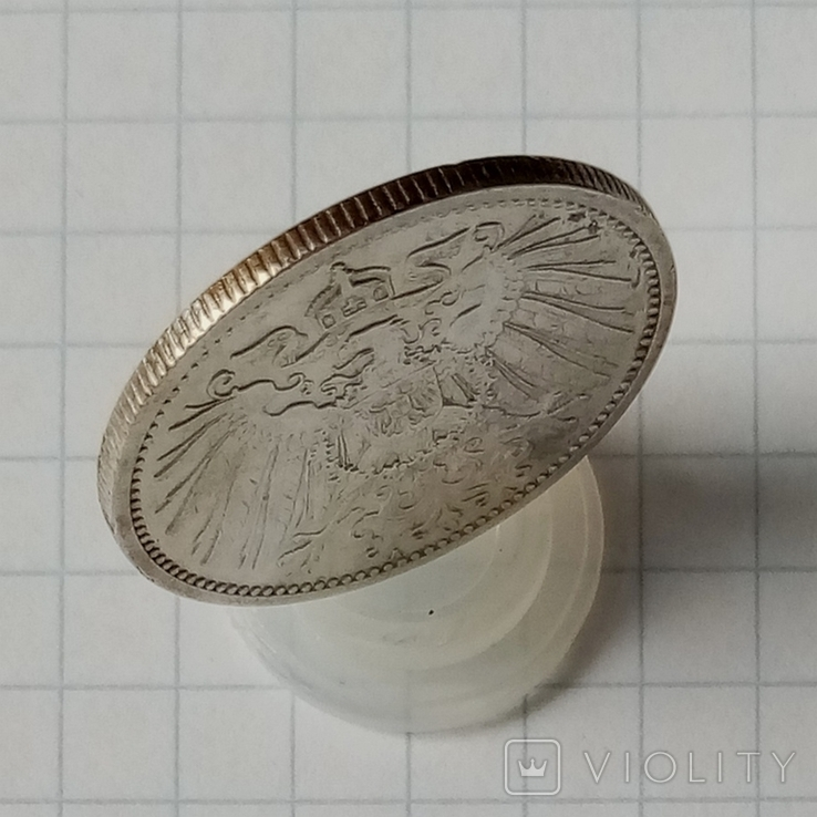 """1 марка 1908г """"А"""" Германия серебро, фото №4"""