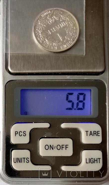 """1 марка 1908г """"А"""" Германия серебро, фото №5"""