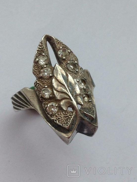 Серьги и Кольцо перстень Серебро -925 проба Вес -12 грамм, фото №5