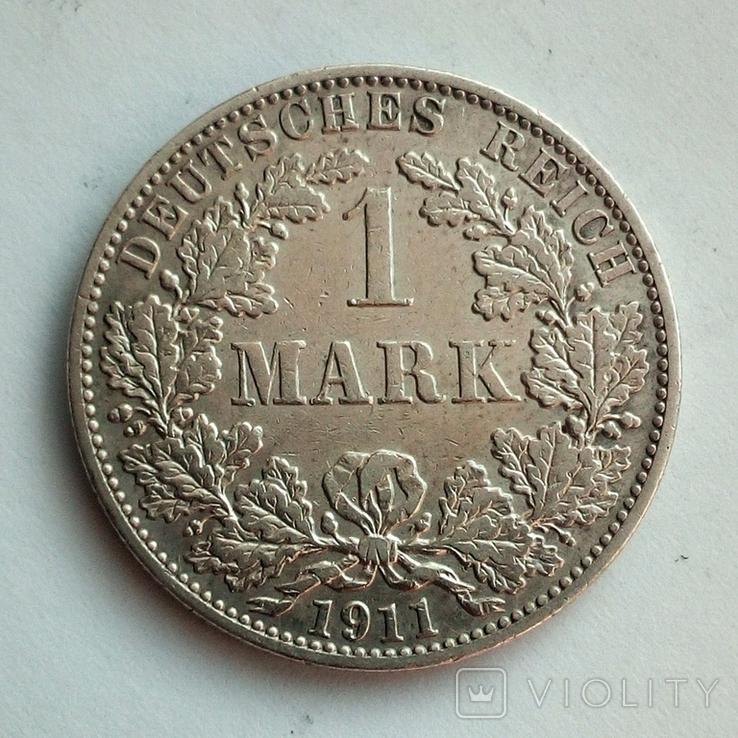 Германия 1 марка 1911 г. ( А ), фото №2