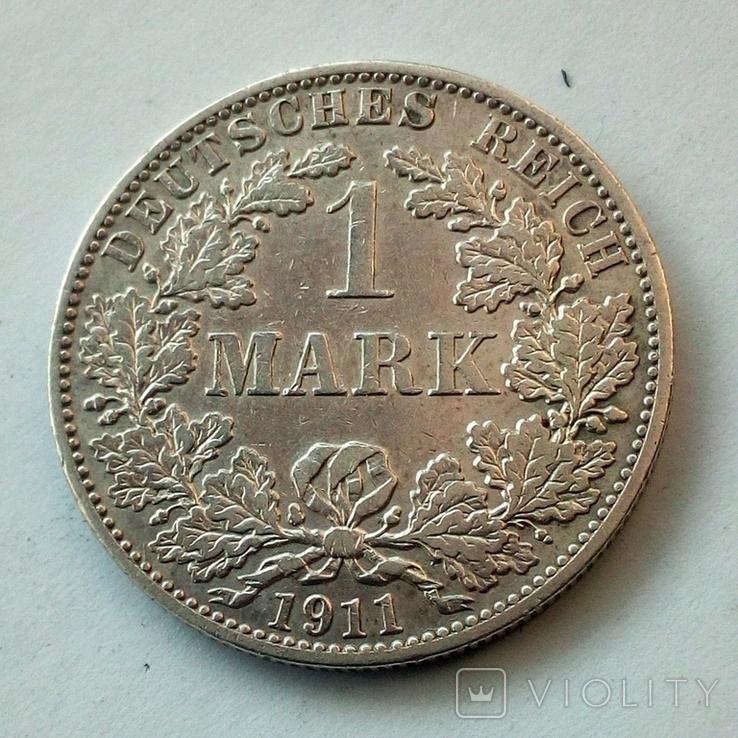 Германия 1 марка 1911 г. ( А ), фото №5