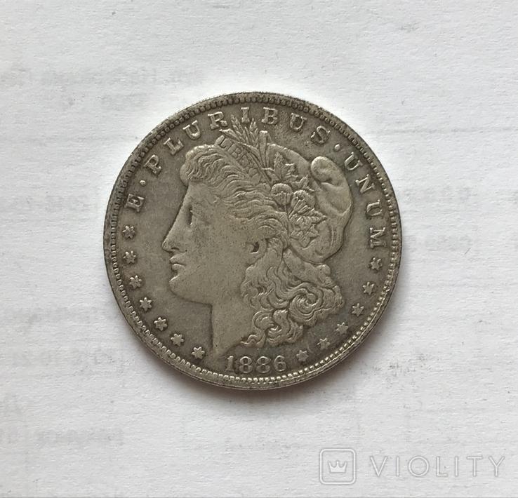 1 доллар 1886 года. Копия., фото №2