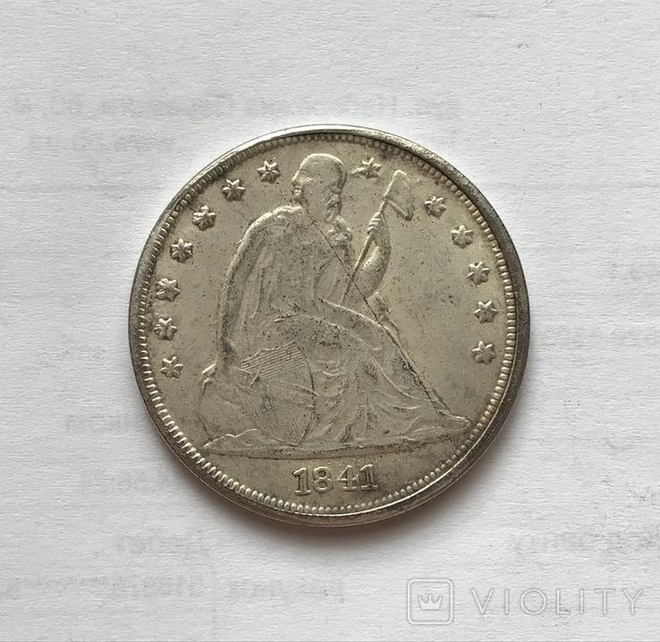 1 доллар 1841 года. Копия., фото №2