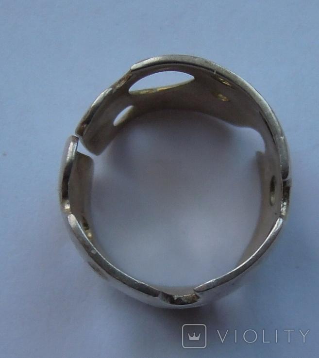 Крупные серьги и кольцо серебро 925 17,2 грм, фото №3