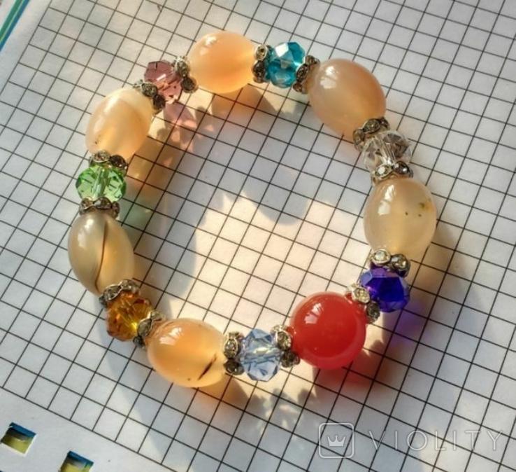 Браслет минералы и кристаллы 35.5 грм., фото №3