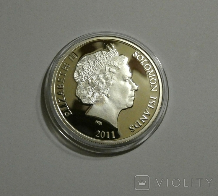 Архангел Гавриил - серебро 999, 1/2 унции - цветная - сертификат и футляр, фото №3