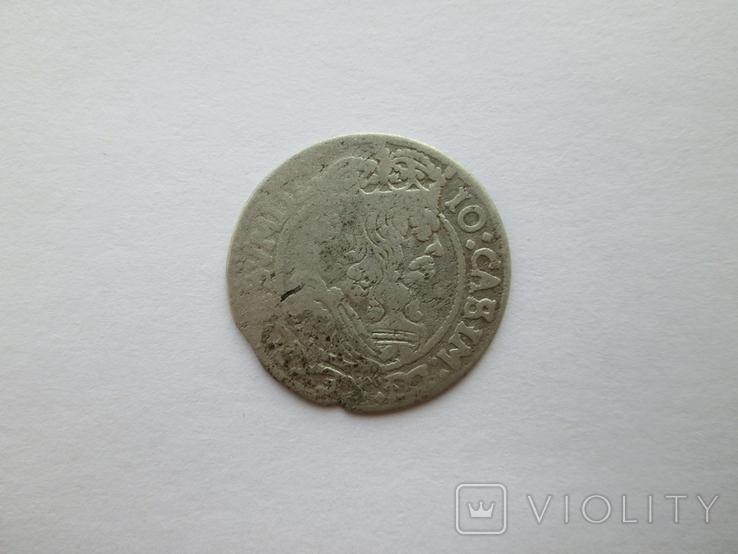 2. Шостак 1665г. Ян ІІ Казимира Вази, фото №2
