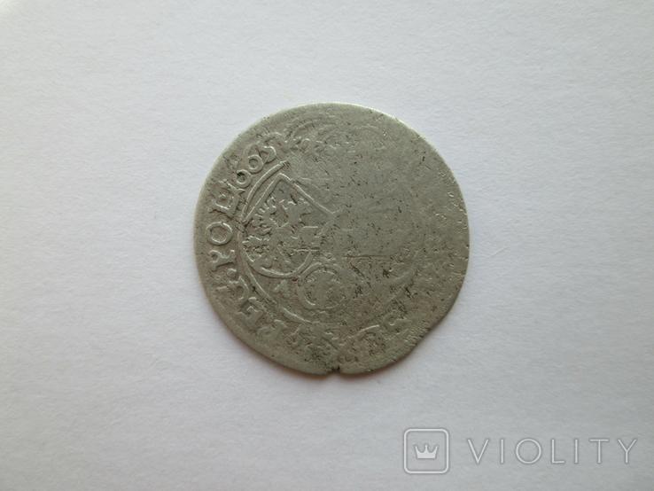 2. Шостак 1665г. Ян ІІ Казимира Вази, фото №4