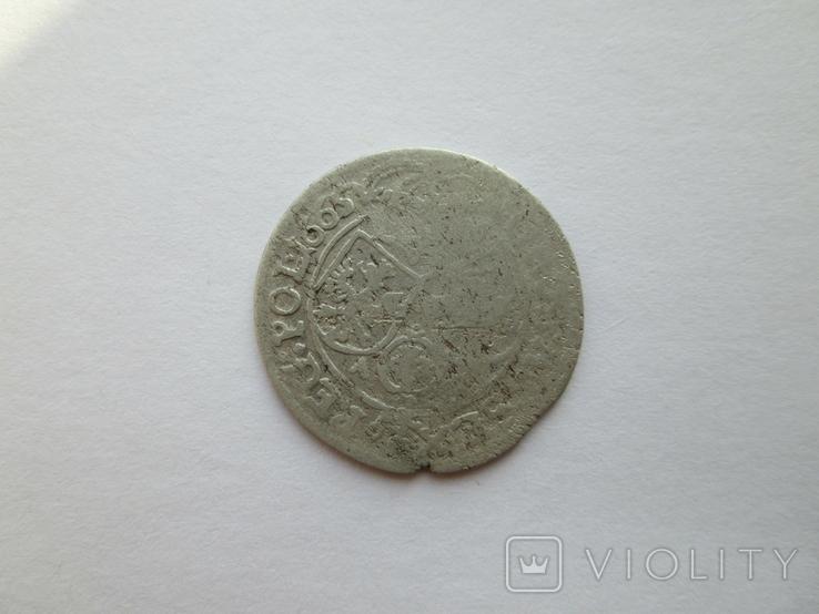 2. Шостак 1665г. Ян ІІ Казимира Вази, фото №5