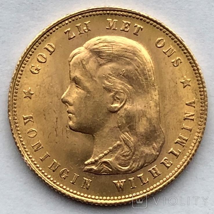 10 гульденов 1897г. Нидерланды, фото №4
