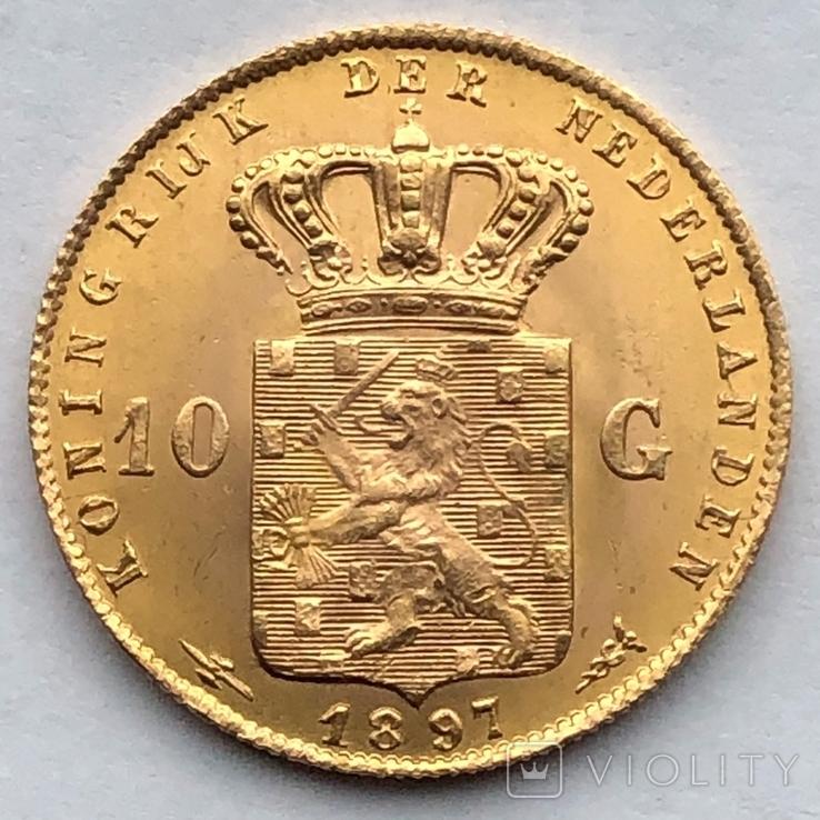 10 гульденов 1897г. Нидерланды, фото №5