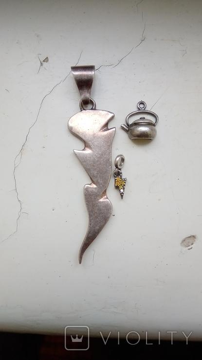 Срібні кулончики., фото №2