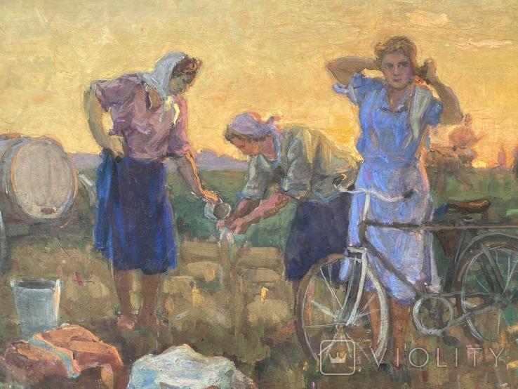 Светличный Е. Вечер в поле 1957 г., фото №4
