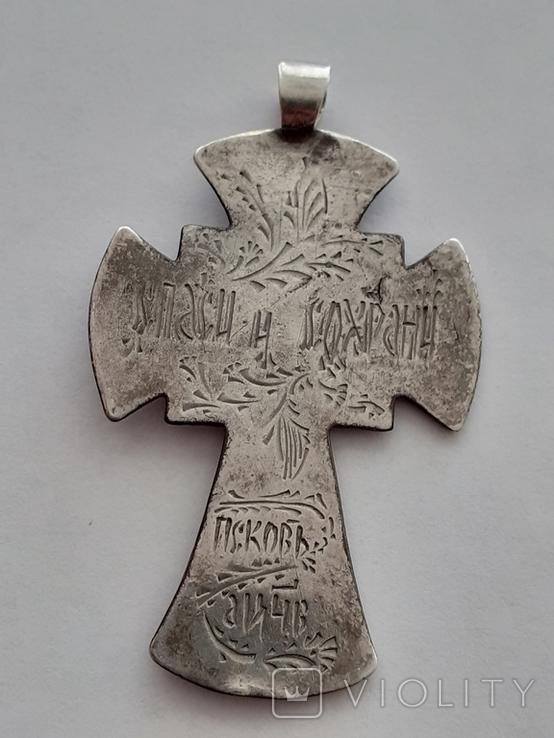 Серебряный крест с золотой накладкой., фото №10