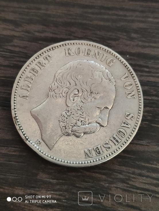 5 марок Саксония Альберт 1875 г., фото №3