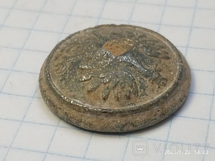 Польская пуговица с остатками посеребрения, фото №7