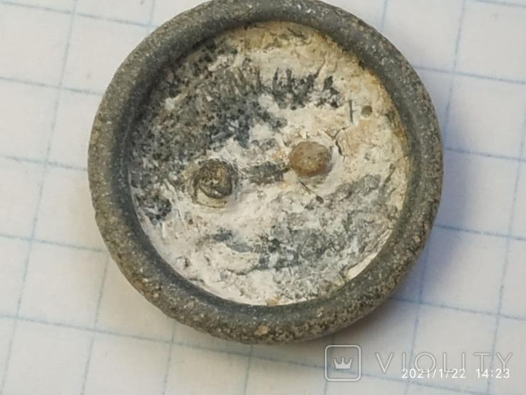 Польская пуговица с остатками посеребрения, фото №8