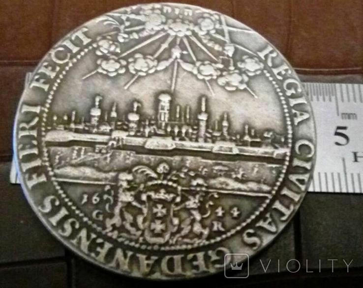 2 таляра 1644 року Польща//копія/посрібнення 999, фото №2