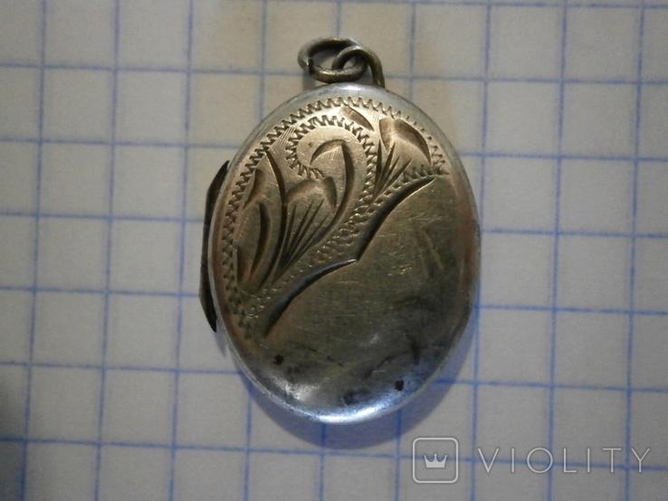 Кулон для фото Серебро, фото №2