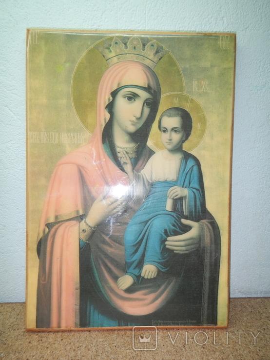 Икона Иверская Матерь Божья. 260х180, фото №2