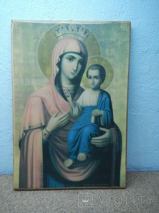 Икона Иверская Матерь Божья. 260х180, фото №3